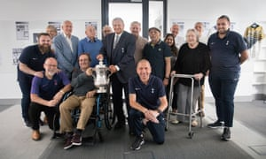 The former club captain and England player Gary Mabbutt (centre) at a workshop for people from Tottenham living with dementia.