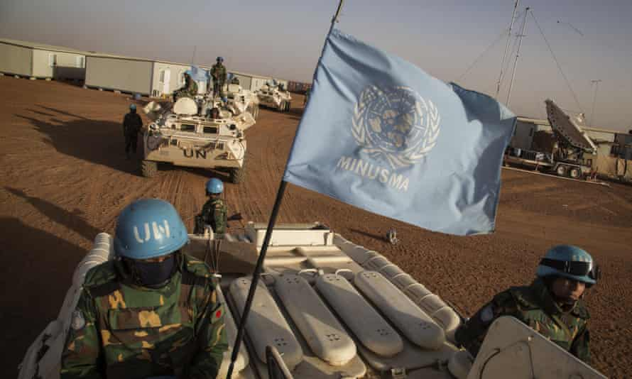 UN peacekeepers from Bangladesh arrive at the Niger battalion base in Ansongo, in eastern Mali. India has criticised the use of UN forces as combat troops in Mali.