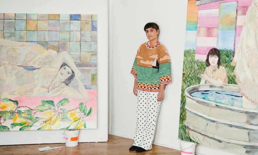 New York is 'the energy' … María Berrío at her Brooklyn studio.