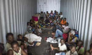 Central African Republic refugees in Cameroon. More than 460,000 people have fled to neighbouring states, according to the UN's refugee agency.
