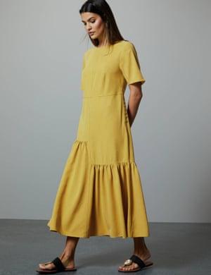Asymmetric relaxed midi dress, £79, M&S