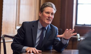 Keir Starmer, shadow Brexit secretary, pictured on 23 March 2018.