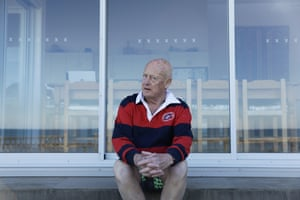 Resident Robert Hill sitting on his deck.