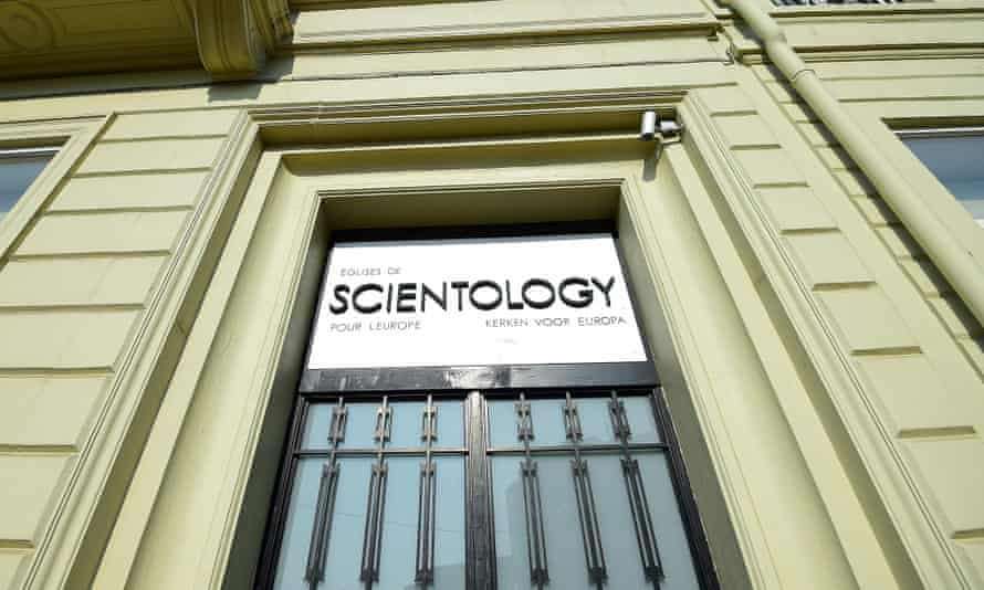 The entrance of a branch of the Church of Scientology for Europe in Brussels.