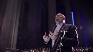 Conductor Tim Seelig performs with the San Francisco Gay Men's Chorus and Oakland Interfaith Gospel Choir in Gay Chorus Deep South.