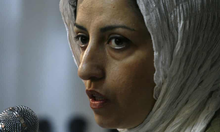 Narges Mohammadi, a prominent Iranian human rights activist, pictured in 2008 while speaking at a meeting in Tehran.