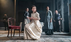 Hayley-Atwell, centre, as Rebecca West in Rosmersholm.