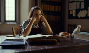 Dafne Keen plays Philip Pullman's heroine, Lyra, in His Dark Materials.