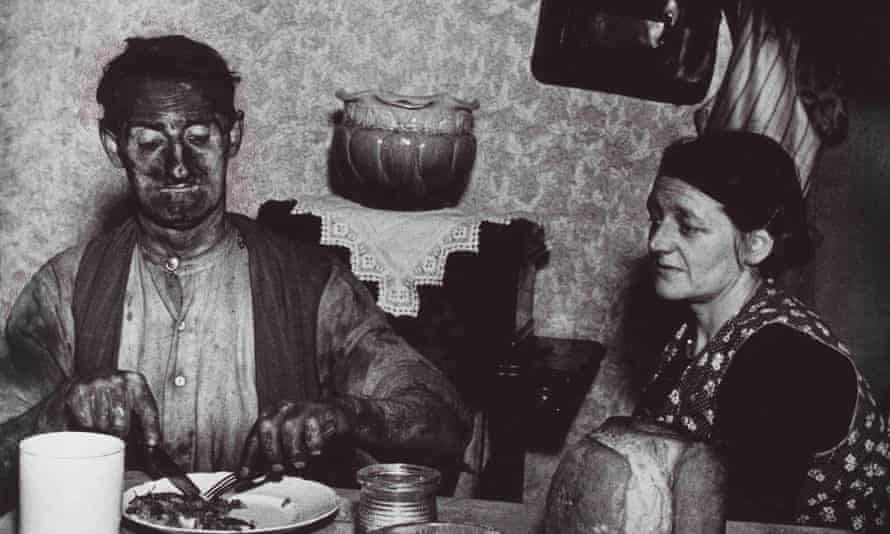 Northumbrian Miner at His Evening Meal, 1937.