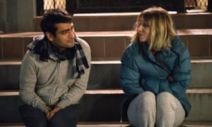 Kumail Nanjiani and Zoe Kazan in The Big Sick, up for best original screenplay.