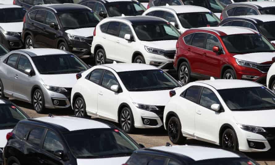 New cars at Southampton Docks