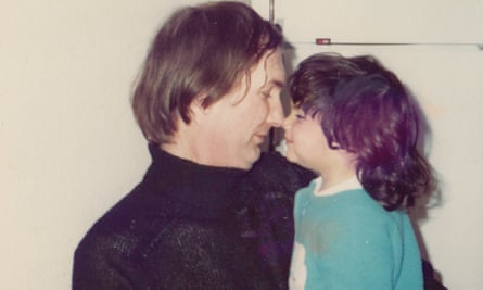 Ariane Sherine as a child with her father.