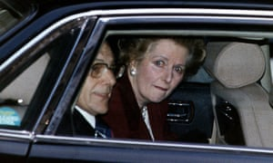 Margaret Thatcher leaves 10 Downing Street for the last time as prime minister in 1990.