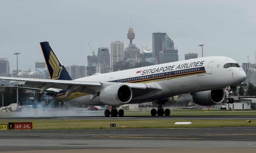 Singapore Airlines plane Sydney