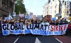 A climate protest in September in Edinburgh