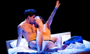 Daniel Boyd and Catrin Stewart as Romeo and Juliet in the Headlong production directed by Robert Icke.