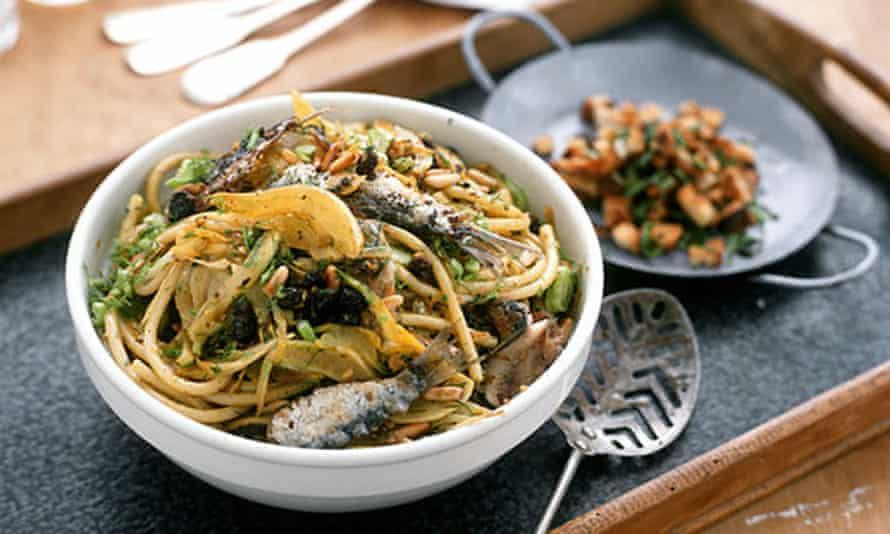 Sardines in pasta