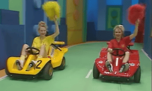 'You don't need a qualification to work with pompoms' … Martina and Melanie Grant in the first episode of Fun house.