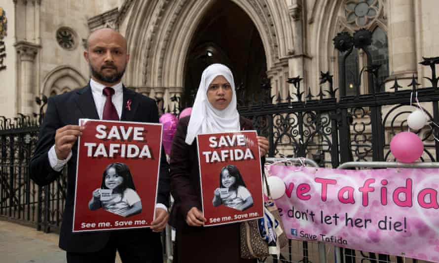 Tafida's parents, Shelina Begum and Mohammed Raqeeb, said they wanted to take their daughter to Italy for treatment.