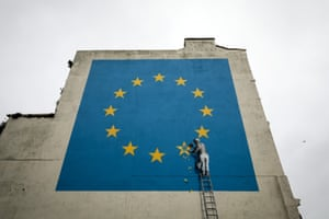 Banksy Brexit Mural Appears Near The Port Of DoverMay 8, 2017