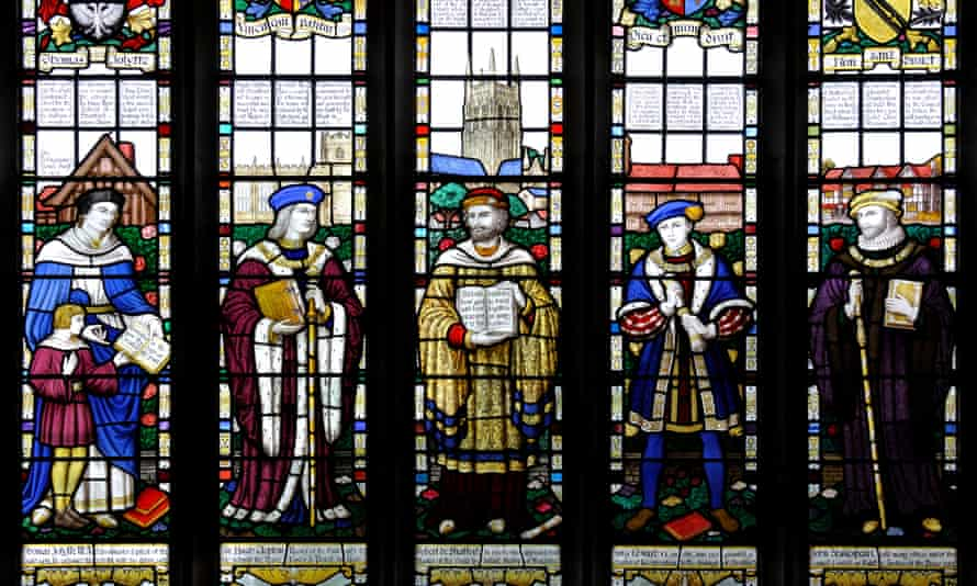 Stained glass in Guild chapel, Stratford-upon-Avon