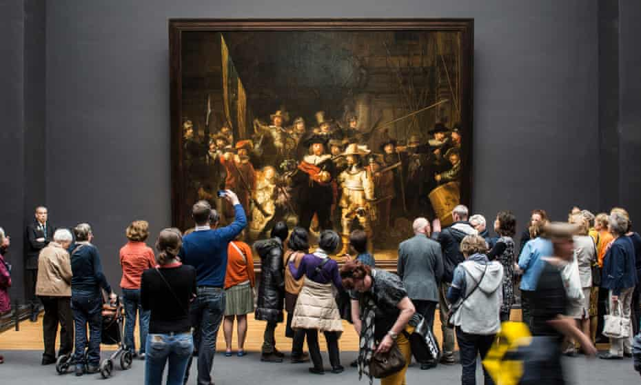 Rembrandt's The Night Watch in the Rijksmuseum, Amsterdam