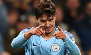 Manchester City's Brahim Diaz, who could leave the club in the summer, celebrates after scoring his team's second goal during their Carabao Cup match against Fulham.