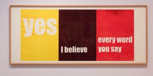 Yes, I believe, every word you say, 200' by Andrea Buttner.