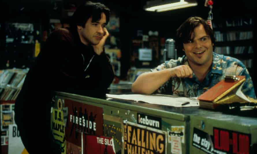 John Cusack and Jack Black in a scene from High Fidelity