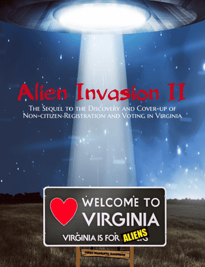 The front page of Pilf's 'Alien Invasion' booklet.