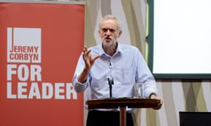 Corbyn speaking at the Luton rally