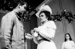 Tom Hollander, Judi Dench and Miranda Foster in The Cherry Orchard at Aldwych theatre, London, directed by Sam Mendes.