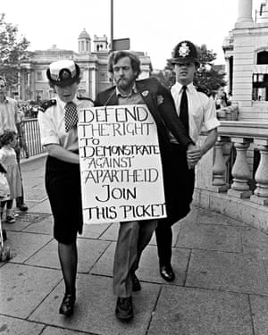 Jeremy Corbyn is arrested at an Anti-Apartheid Group picket 1984