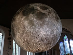 """Each centimetre on his moon will represent 5km on the surface of the Earth's largest natural satellite. Presented at Lakes Alive festival in Kendal, visitors to the church will be encouraged to """"moonbathe"""" beneath it. A programme of musical and spoken word performances are also taking place beneath the moon."""
