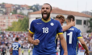 Kosovo's Vedat Muriqi, in no way featured among tittle-tattle columns because his team are facing England.