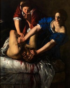 Judith Beheading Holofernes by Artemisia Gentileschi, c1612-13.