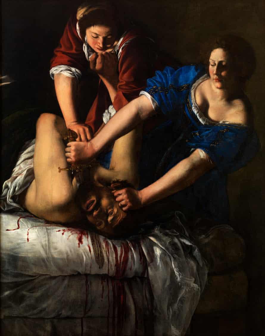 Artemisia Gentileschi's Judith Slaying Holofernes, 1612.