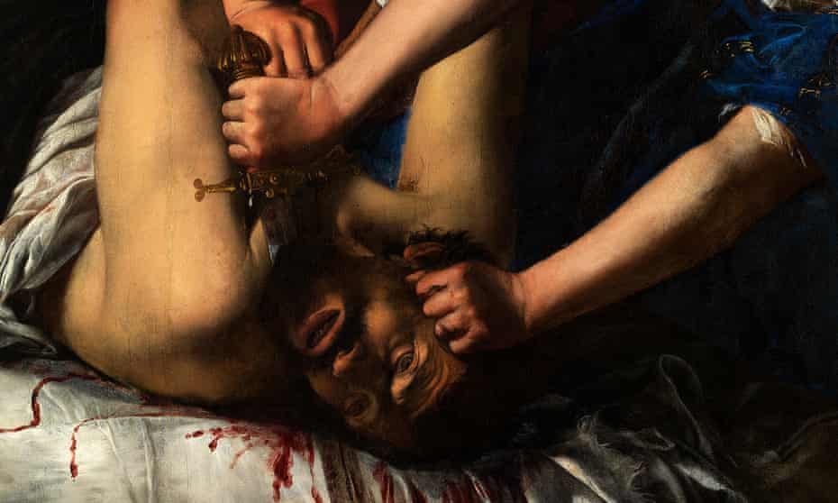 A visceral work of revenge … a detail from Artemisia's Judith Beheading Holofernes.
