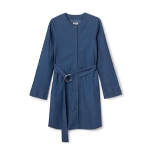 "Denim shirt dress, £55, <a href=""http://shop.weekday.com/gb/Womens_shop/Dresses/Idaho_shirtdress/542434-3994030.1#c-47958"">weekday.com</a>."