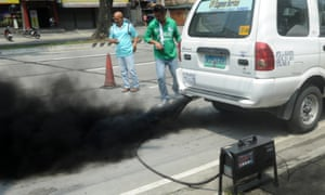 Pollution-plagued Manila set to spark an electric transport