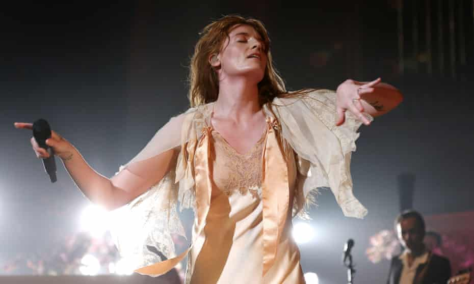 Visceral force … Florence Welch of Florence + the Machine at Royal Festival Hall, London.