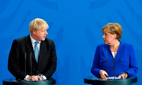 Brexit: Angela Merkel gives Boris Johnson 30 days to come up with solution to backstop - live news