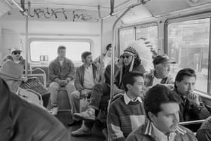 Indian on Bus by Zig Jackson