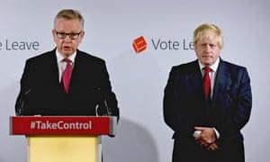 Michael Gove, left, and Boris Johnson