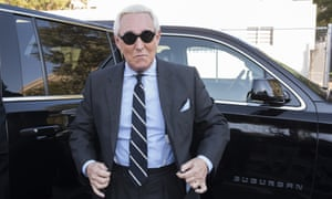 Roger Stone arrives at federal court in Washington DC on 6 November 2019.