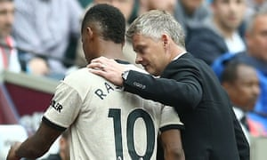 Ole Gunnar Solskjær says Marcus Rashford will 'probably be out for a little while' after being forced off at West Ham with a groin injury.
