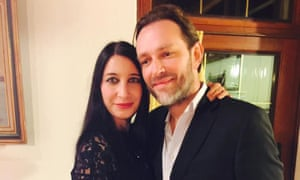 Christine Delcros with her boyfriend Xavier Thomas, who was killed in the London Bridge attack
