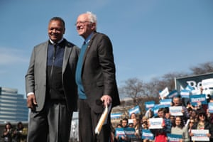 With Bernie Sanders in March.