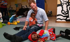'It's fun to be good and it's boring to be bad …' Prince Harry in Africa.