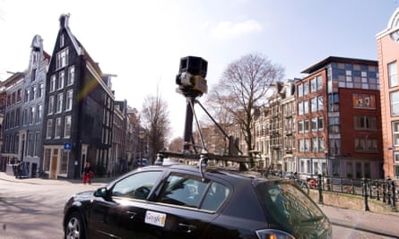 A Google Street View car in Amsterdam. The firm has given up recording 'new imagery' in Germany.